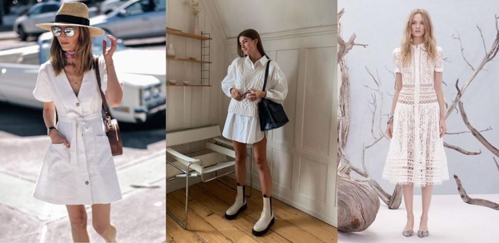 화이트 패션 아이템 봄과 여름에 자주 찾게되는 다양한 원피스 룩