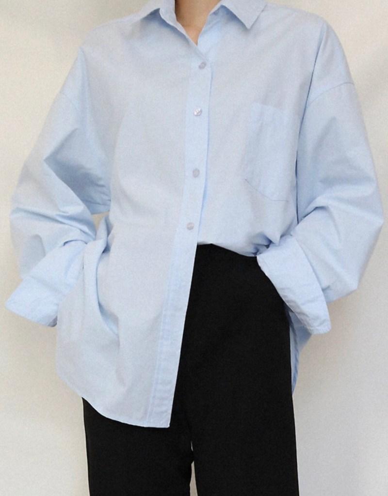 니니드 - 컬러셔츠와 슬랙스