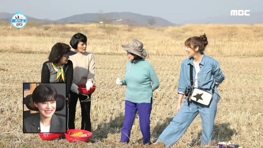 가수 겸 배우 손담비가 데님 셔츠에 데님 바지를 입어 청청패션을 완성한 모습이다.