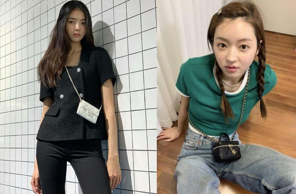 마이크로 미니백  임나영 유아의 샤넬 백 스타일링
