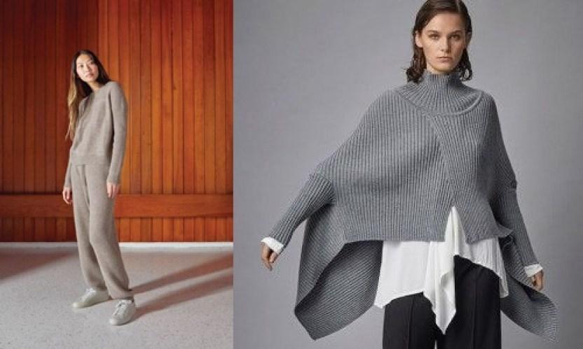 겨울 패션 아이템 판초 니트 세트