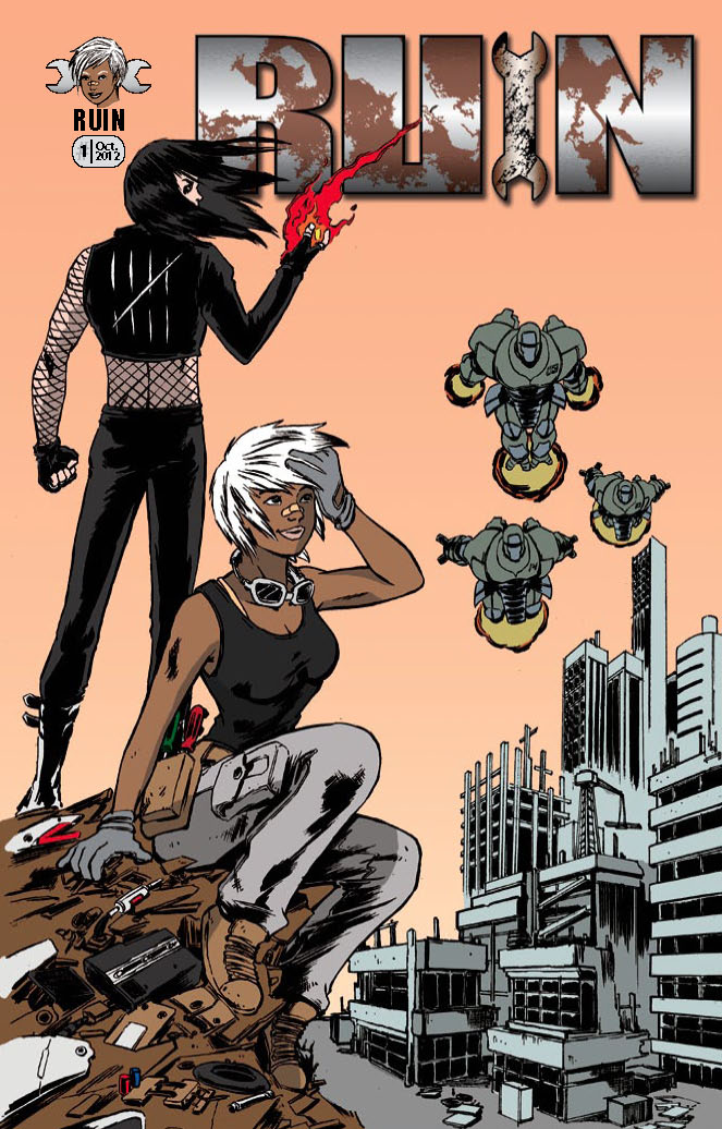 Ruin (Cover) – Story by D.M. Charles | Illustrated by Discoro Benga Jr. – Colored & Lettered By Osjua A. Newton