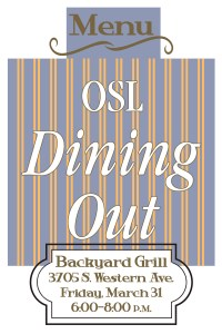 OSL Dining Out March 31