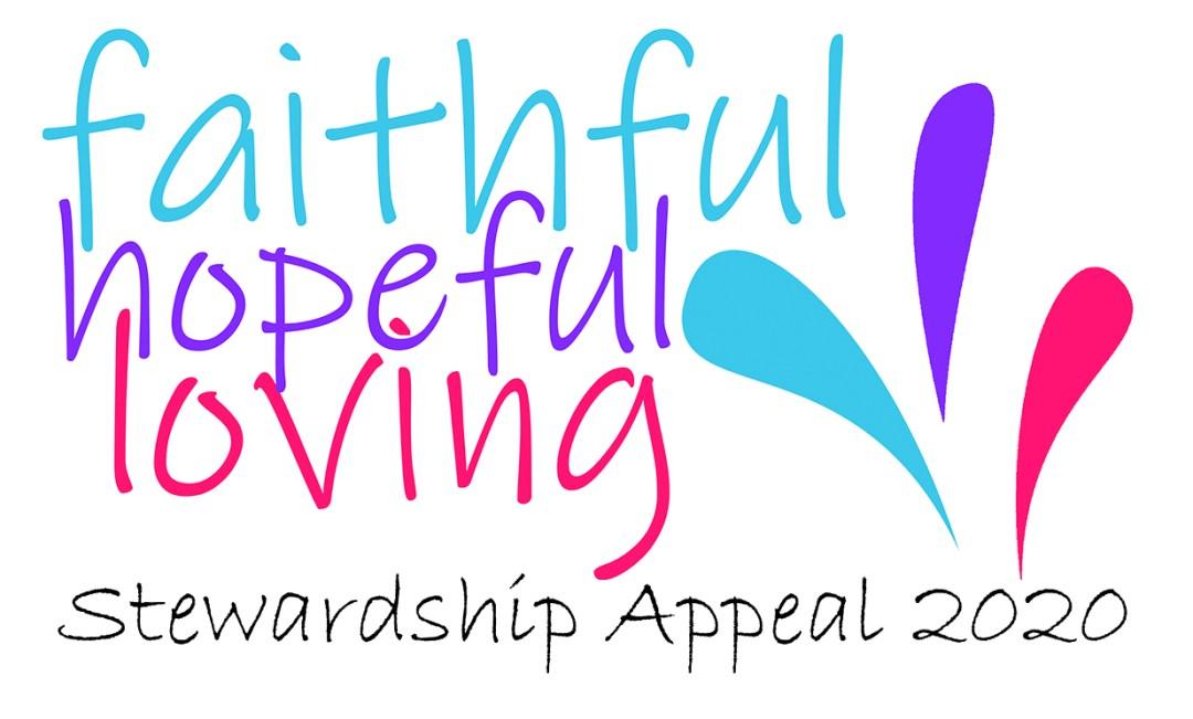 Faithful, Hopeful, Loving logo with tag