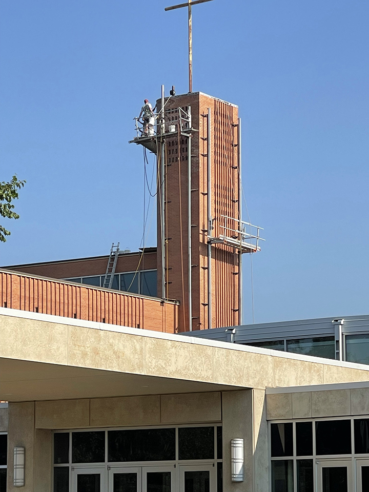 Photo of Bell Tower repair July 12, 2021