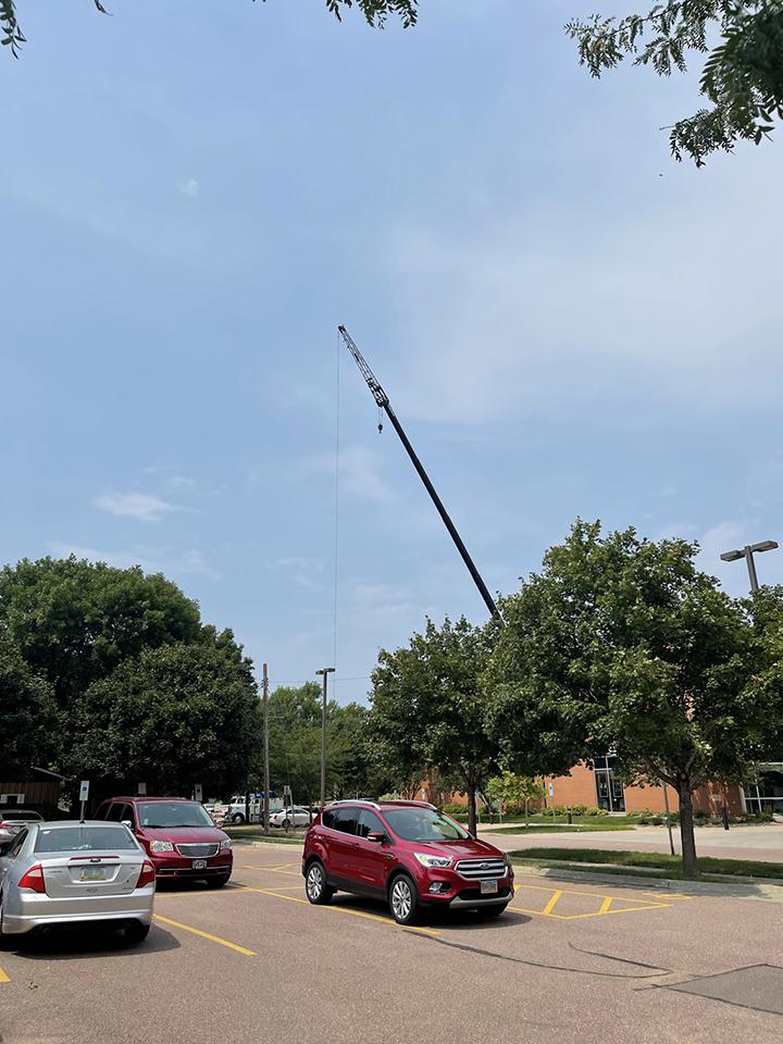 Bell Tower repair, July 16, 2021