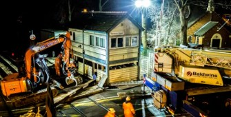 Nantwich Signal Box removal and relocation works