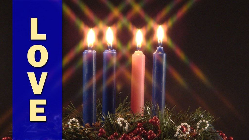 Fourth Sunday of Advent: We celebrate LOVE at Our Savior's Lutheran Church in Hermosa, SD