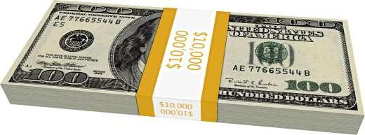 $10,000 (sto stodolarovek).