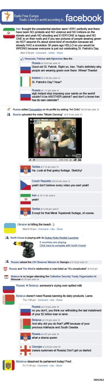 RFE/RL Shrnutí týdenních událostí ve stylu Facebooku, 19, 6, 2009