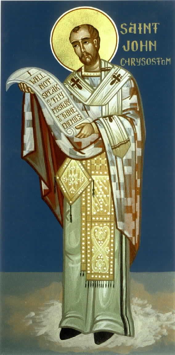 Sv. Jan Zlatoústý (zdroj www.antiochian.org)