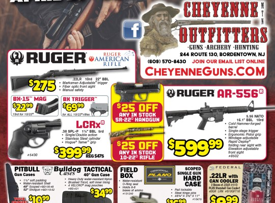 4 page Digital & In-Store Print Flyer Cheyenne Mountain Outfitter
