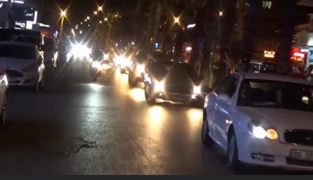 Osmaniye'de Azerbaycan'a destek konvoyu