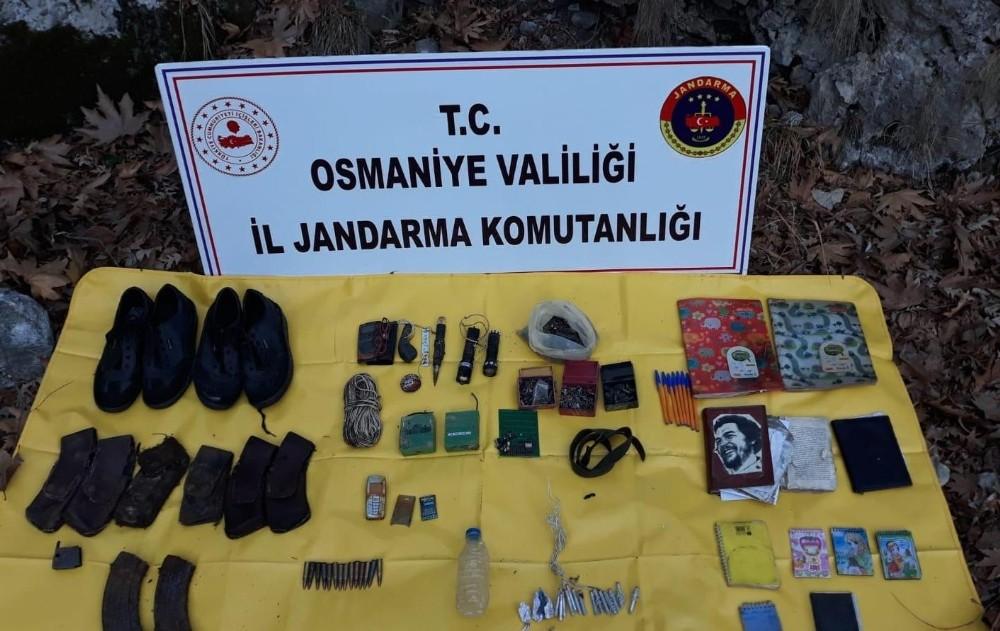 Osmaniye'de PKK'ya ait sığınakta ele geçirilen patlayıcılar imha edildi