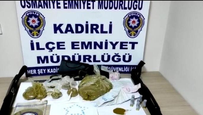 Osmaniye'de uyuşturucu operasyonu: 3 gözaltı
