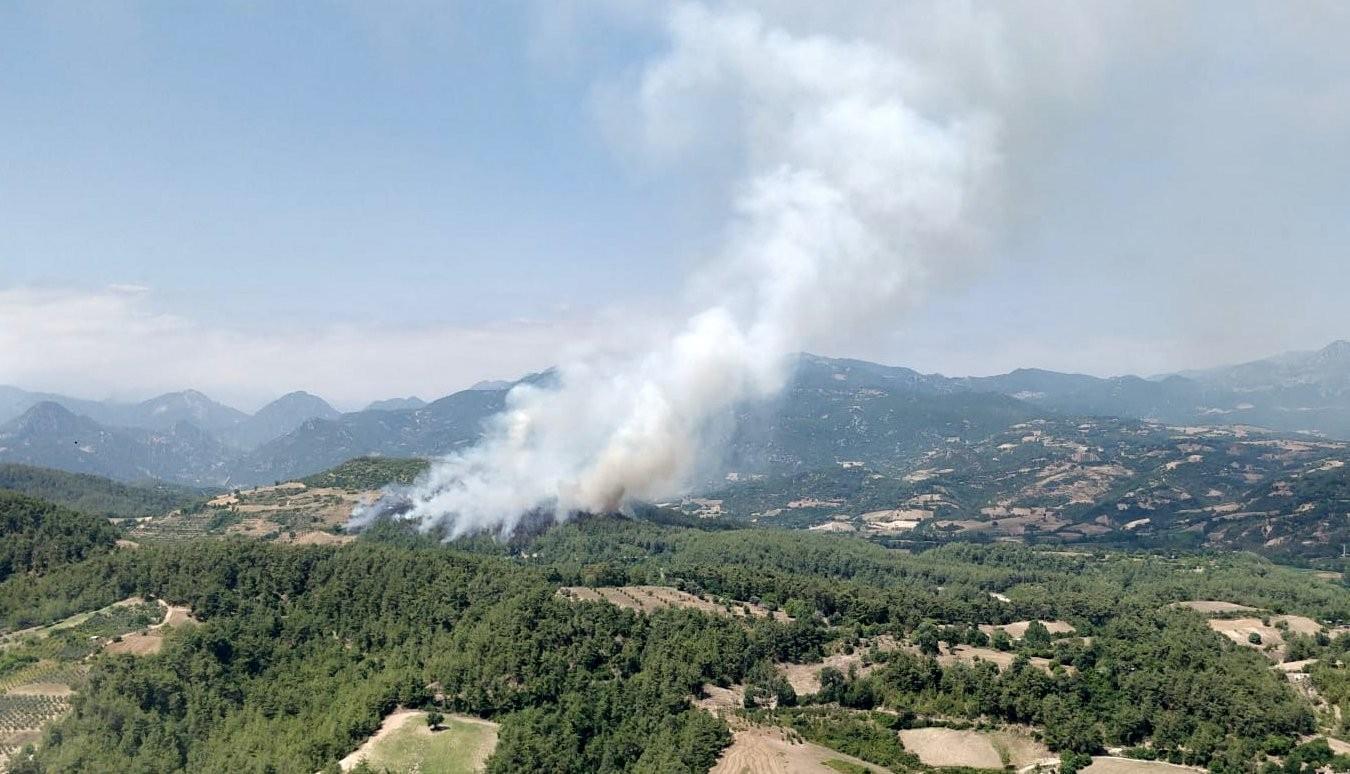 Osmaniye'de yangını kontrol altına alma çalışmaları sürüyor