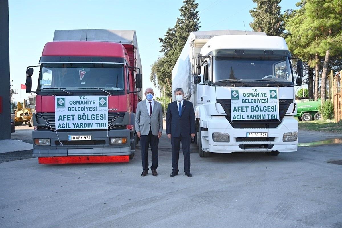 Osmaniye Belediyesi'nden Sinop Ayancık'a yardım eli