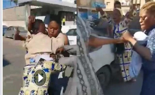 Nigerian 'big girls' fight on the street of Benghazi, Libya