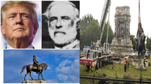 ''He was genius'' Trump praises slave master and confederating General Robert E. Lee after his Statue was dismantled in Virginia
