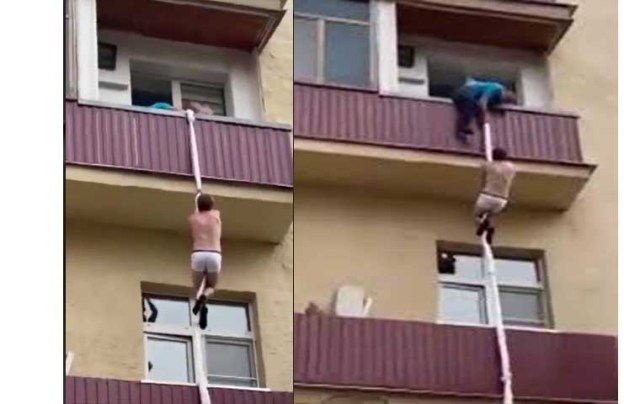 Drama as man tries escaping through window after being caught with another man's wife