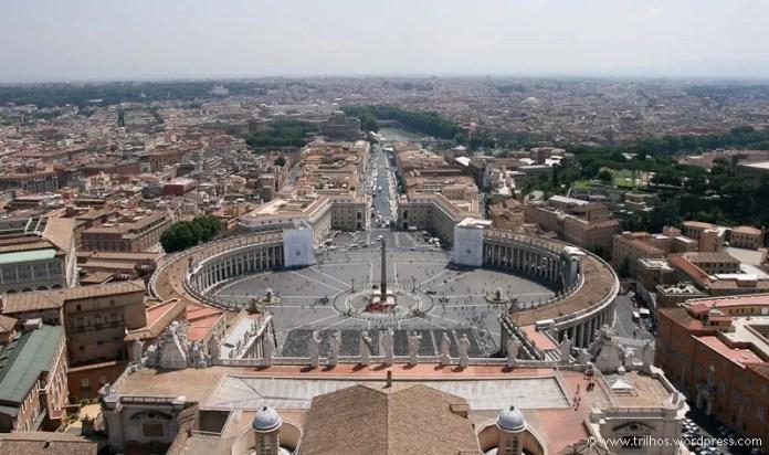 Vista da Cúpula da Basílica de São Pedro, na cidade do Vaticano