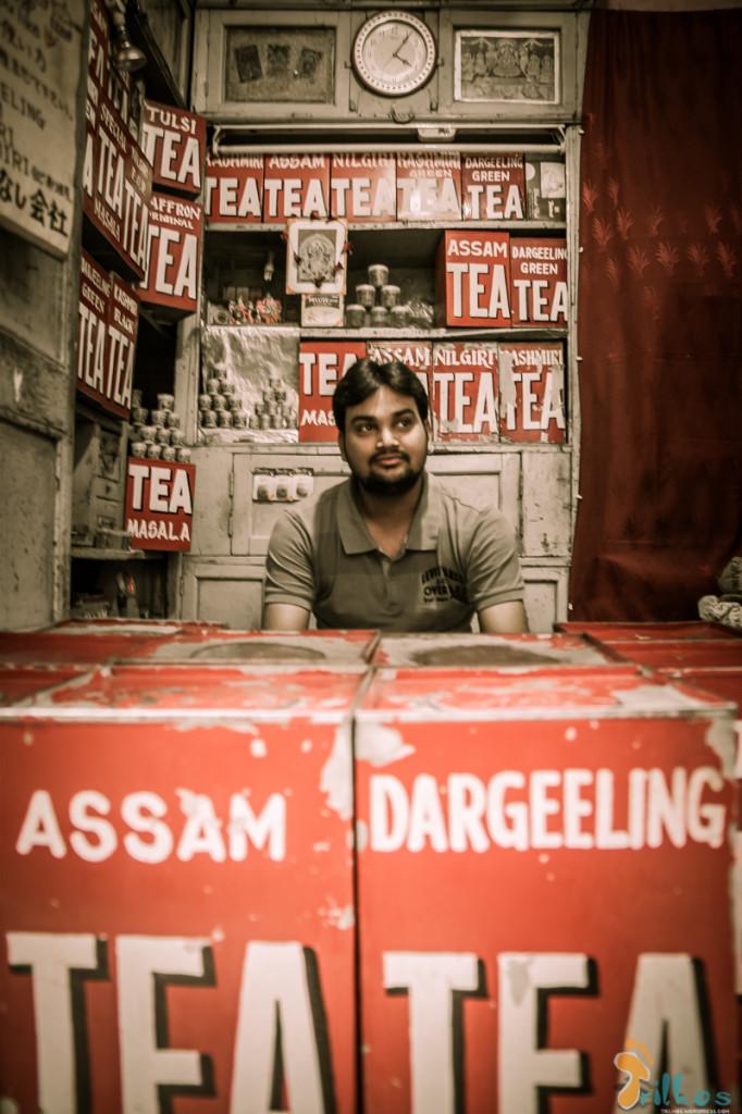 Vendedor de chá, em Varanasi