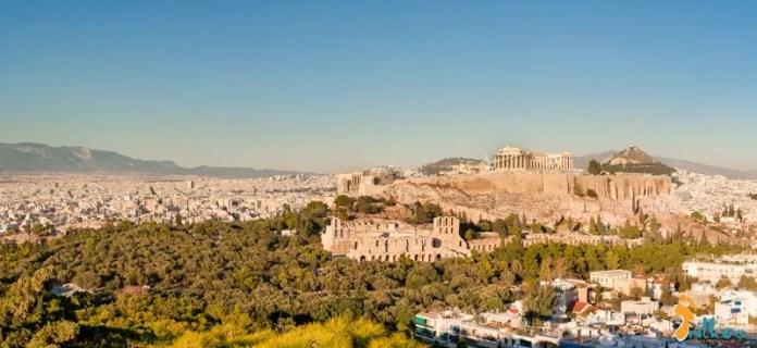 Atenas (Foto panorâmica desde o Monte Pnyx)