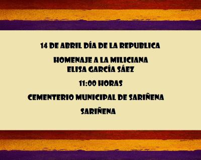 14 de abril día de la Republica  en Sariñena