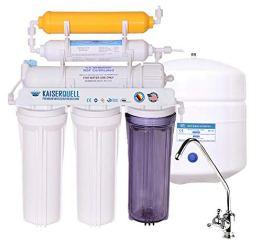 kaiserquell Premium Wasserfilteranlage handgefertigt in Deutschland 6 stufig Osmoseanlage Wasserfilter Trinkwasserfilter mineralisiert kalkfreies Trinkwasser Leichter Einbau (Chromulus, Vitalisierer) - 1