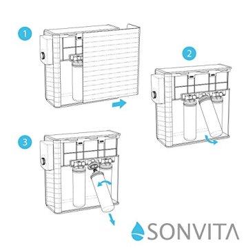 Sonvita PURA UP Auftisch Umkehrosmose Wasserfilter für kalkfreies Trinkwasser Osmoseanlage für schadstofffreies Leitungswasser - 5