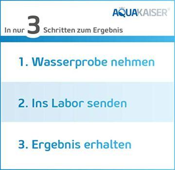 Aquakaiser Wasser Test auf Schwermetalle - Wassertest auf Blei, Kupfer, Eisen und andere metallische Leitungsmaterialien - 5