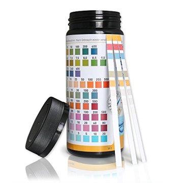 aquaself 9-in-1 Wassertest - 100 Stück Trinkwasser Teststreifen zur Überprüfung der Wasserqualität - inkl. gratis E-Book - 2
