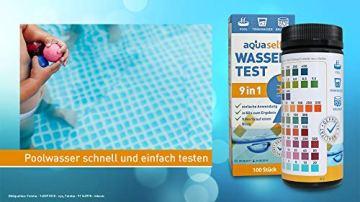 aquaself 9-in-1 Wassertest - 100 Stück Trinkwasser Teststreifen zur Überprüfung der Wasserqualität - inkl. gratis E-Book - 6