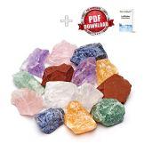 Große Wasserstein Mischung/Set NATUR mit den 7 beliebtesten Natursteinen | 300g Premium Edelsteine zur Herstellung von Edelsteinwasser - 1