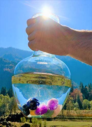 Großes Wasseredelstein-Set   Mischung mit 7 beliebten Sorten   Premium Wassersteine zur Herstellung von Edelsteinwasser   Edelsteine - 5