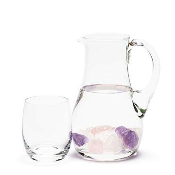 Premium Edelsteinwasser Basis-Mischung | 100% Natursteine | Wassersteine-Set: Rosenquarz, Amethyst, Bergkristall (400g) - 3