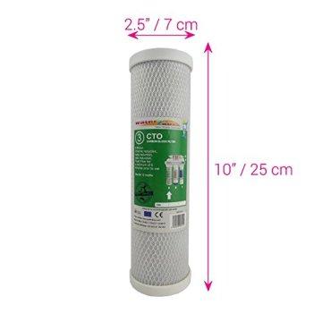 Water2buy Universal 5Stufen Umkehrosmose komplett Wasser Filter Ersatz-Set, weiß, 5Stück - 5