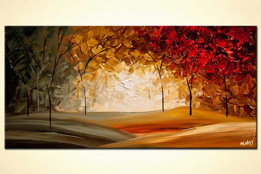 Modern Abstract Landscape Blooming