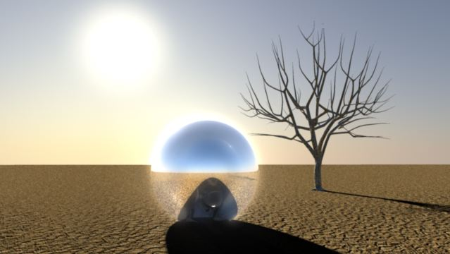 3D Animation Silver Man landing 3