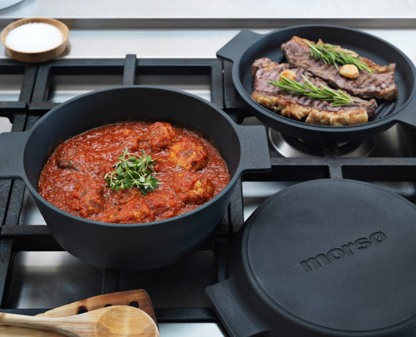 Morso Multi Cocotte with Griddle Pan Lid
