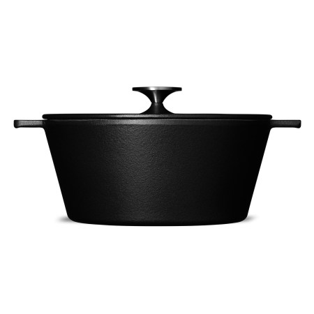 morso Danish black cast iron casserole dish pan