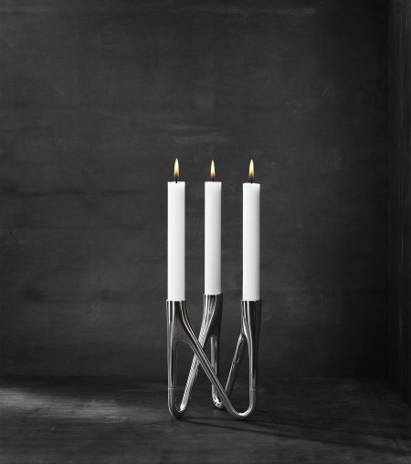 morso roots candlestick holder in chrome