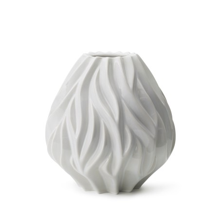 morso flame vase in putty white medium