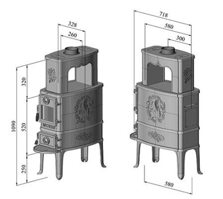 morso 2b classic dimensions