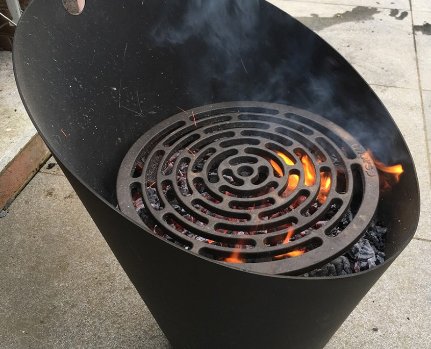 Morso fire pot with Tuscan grill