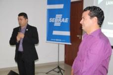 Gerente regional do Sebrae, Alex Brito, e secretário de Desenvolvimento Econômico, Flávio Guimarães