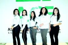 As colaboradoras da ACE Valéria Paiva, Alice Gomes, Jacy Dutra, Marilene Honorato e Maiane Cruz em evento promovido pela ACE de Teixeira de Freitas