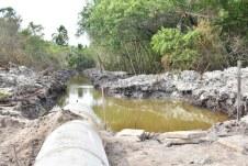 Obras do sistema de drenagem da Barra de Caravelas (2)