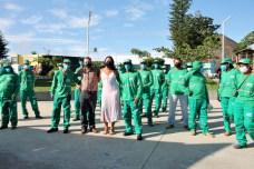 lajedao prefeito tonzinho limpeza publica prefeitura gari entrega de uniforme caminhao tele entulho compactador (16)