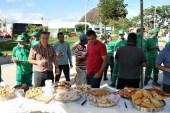 lajedao prefeito tonzinho limpeza publica prefeitura gari entrega de uniforme caminhao tele entulho compactador (26)
